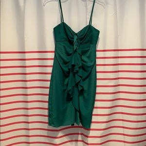 BCBG MAXXAZRIA EVERGREEN DRESS